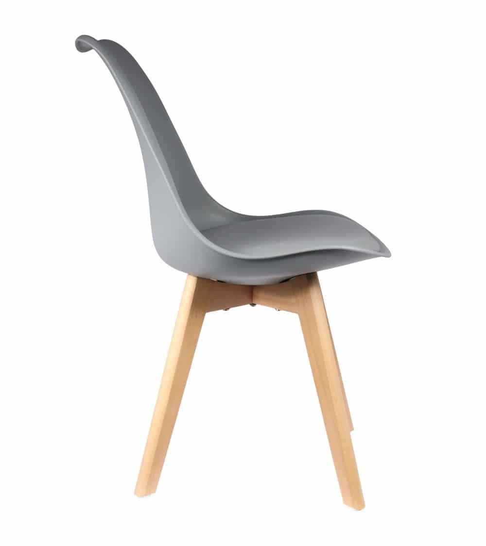 Chaise scandinave grise côté