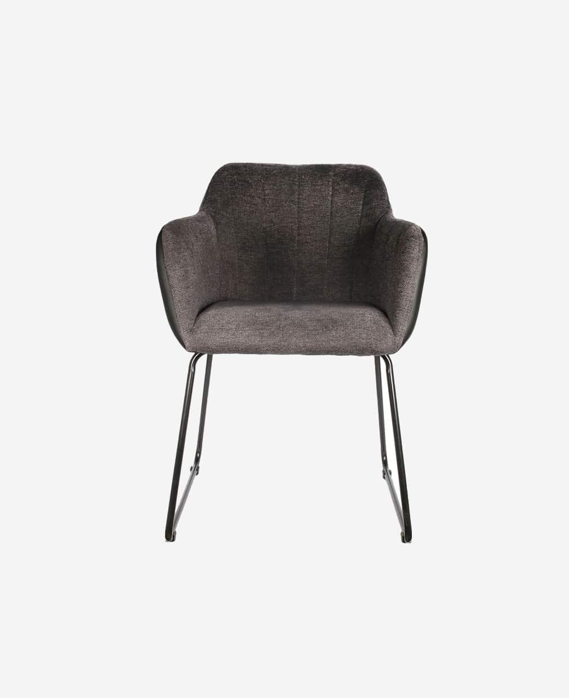 Duo fauteuils menphis grit et noir vue de face