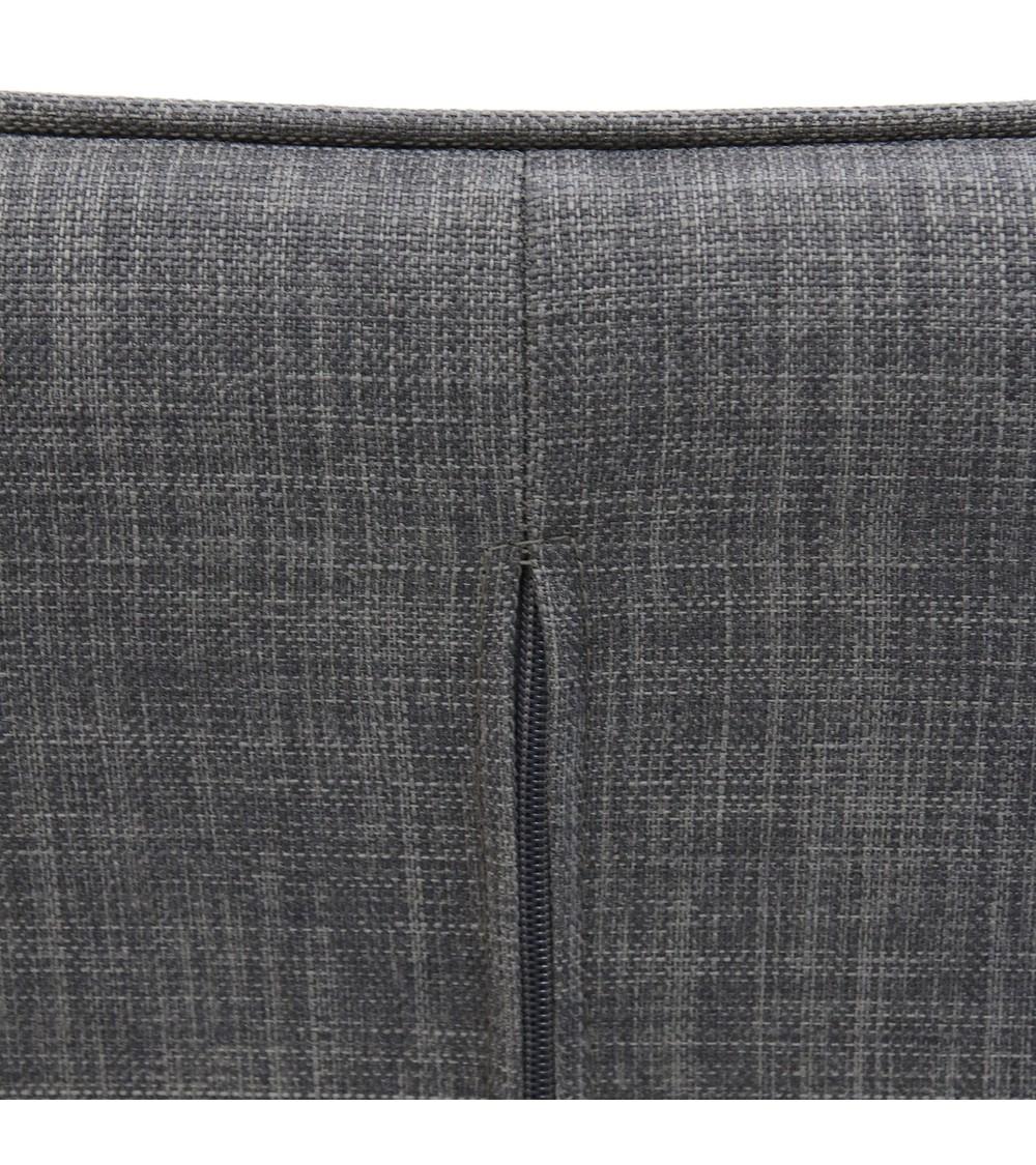 canapé deux places scandinave gris vue focus zip