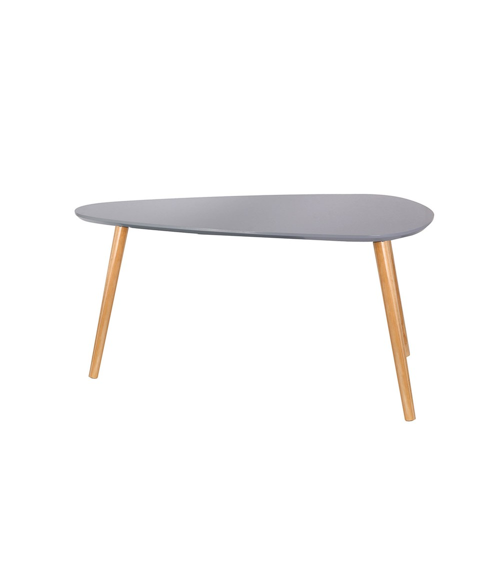 Table basse scandinave triangle grise petit