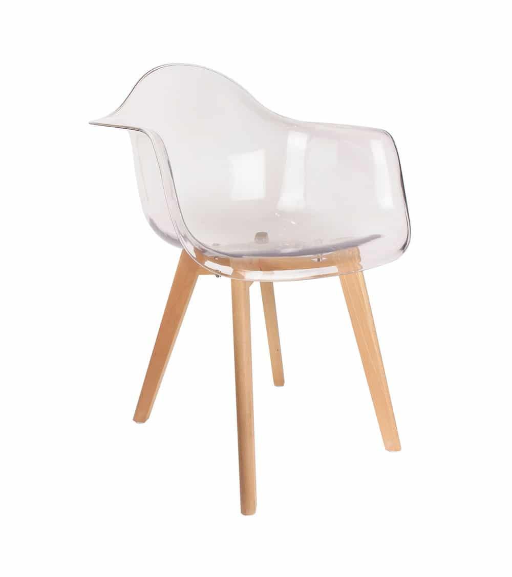 fauteuil transparent vue de coté