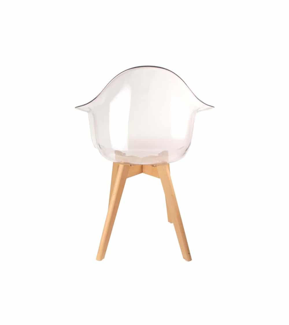 fauteuil transparent vue de dos