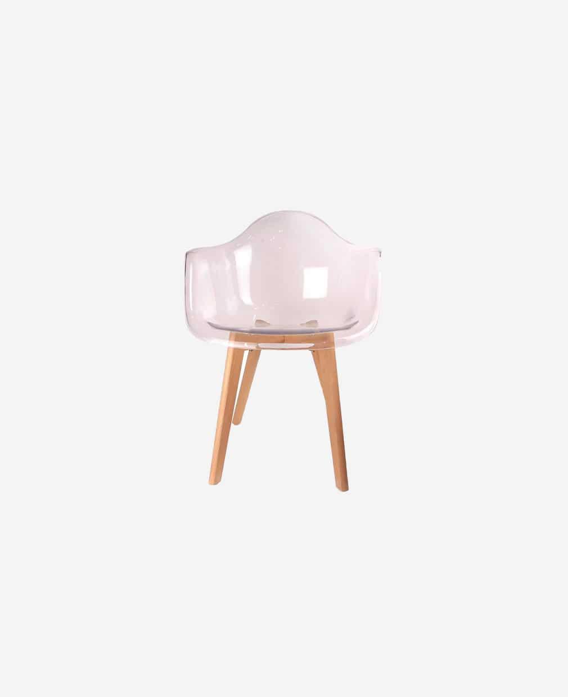 fauteuil transparent vue de face