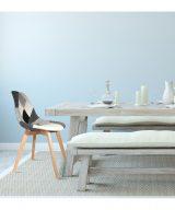 chaise scandinave patchowork grise dans un salon