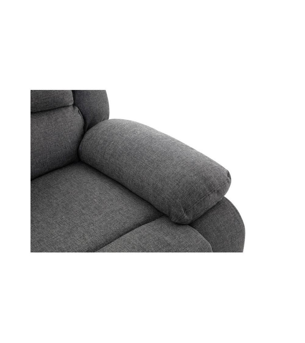 Canapé d'angle 5 plages gris foncé vue du coussin