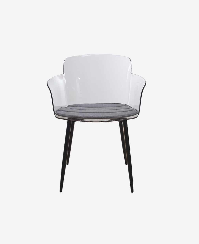 fauteuil moderne transparent face