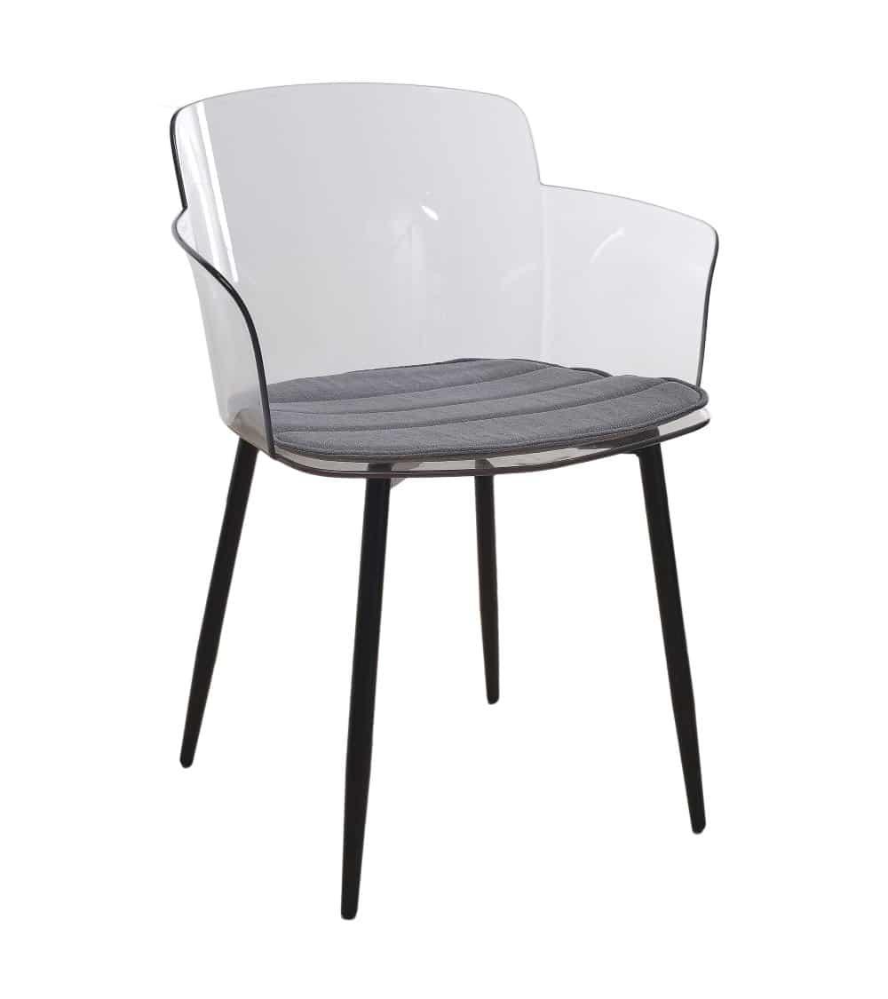 fauteuil moderne-transparent incliné