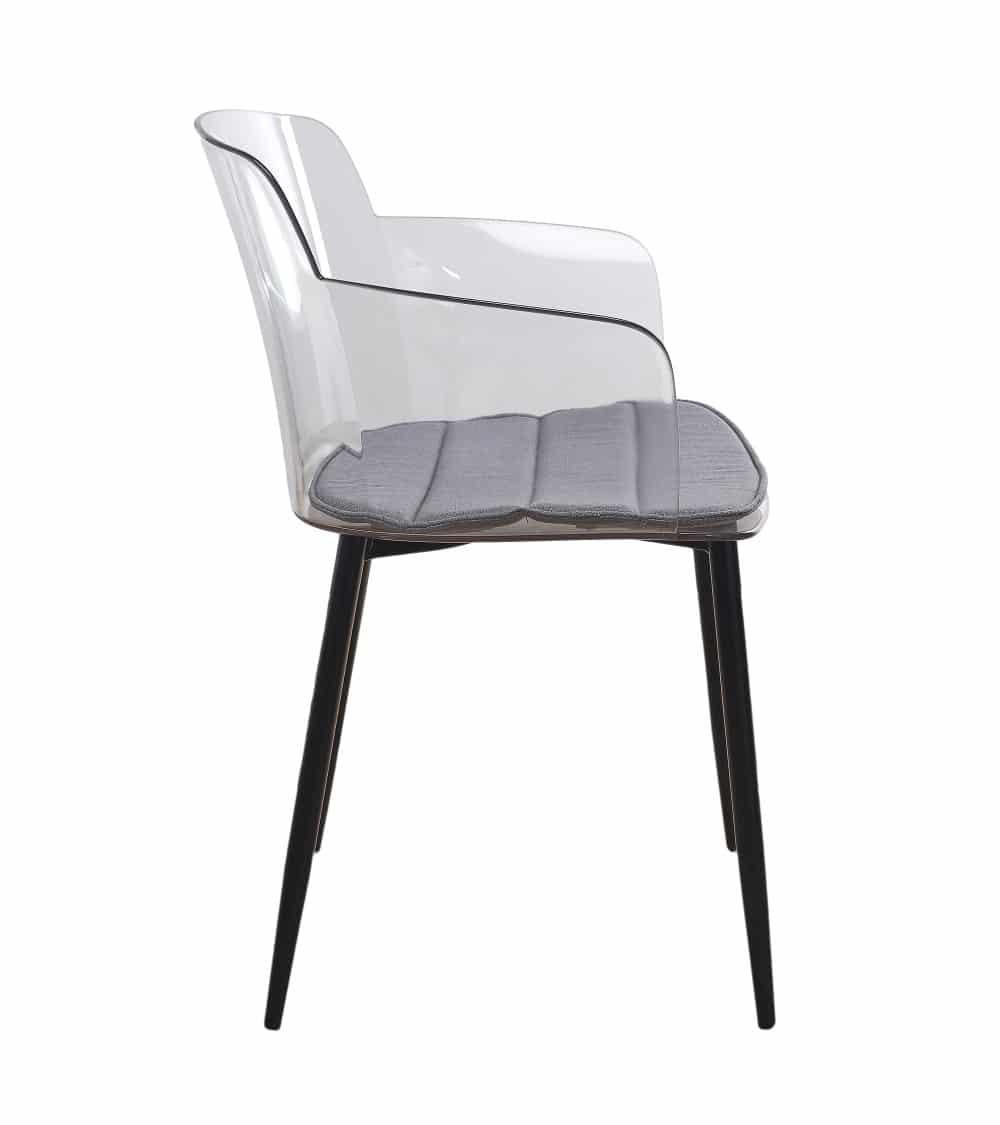 fauteuil moderne-transparent coté