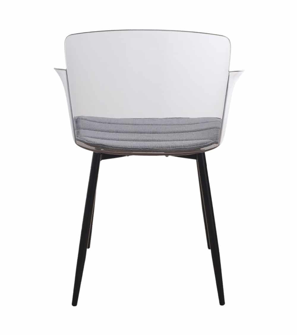 fauteuil moderne-transparent dos