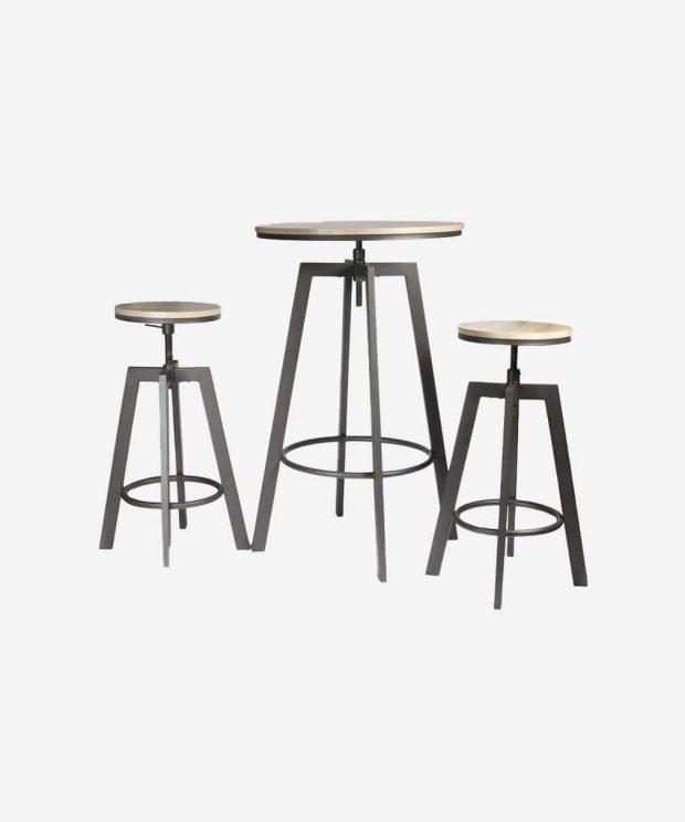 table mange debout et ses deux chaises