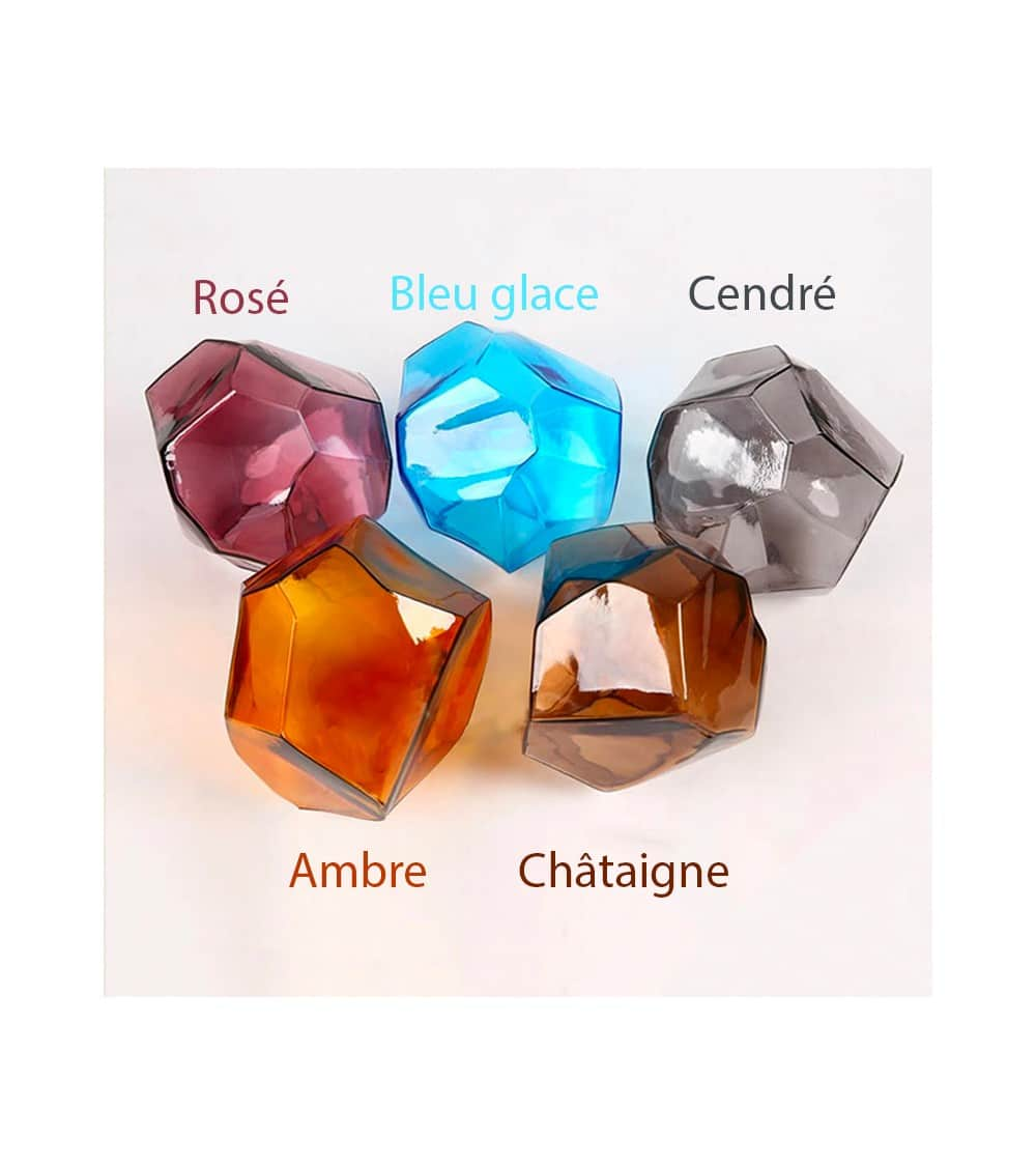 Les différentes couleurs cristal