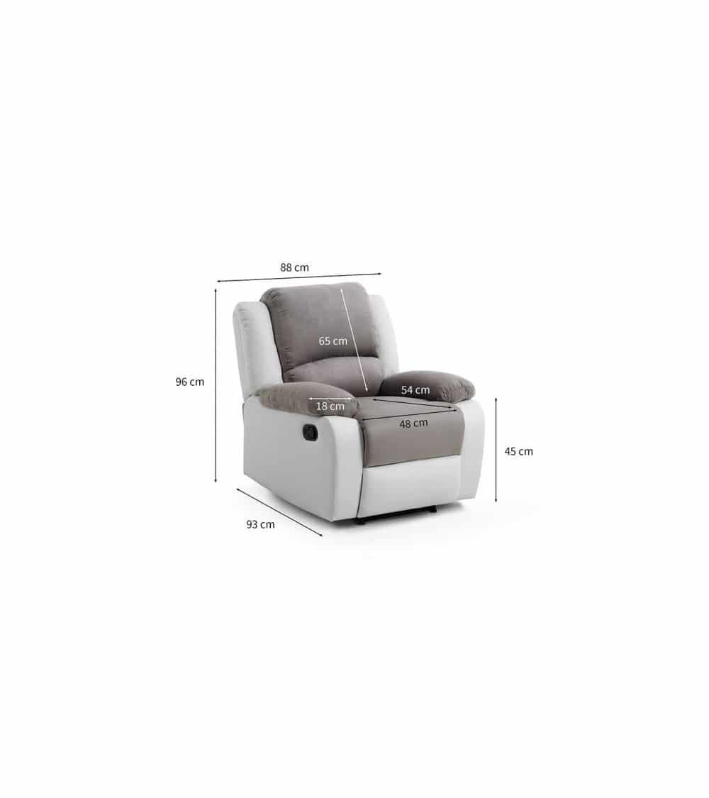 fauteuil relaxant manuel dimensions