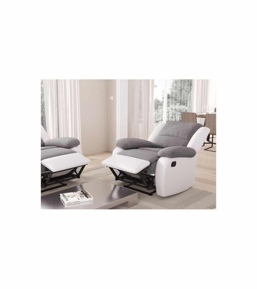 fauteuil relaxant manuel salon repose pieds