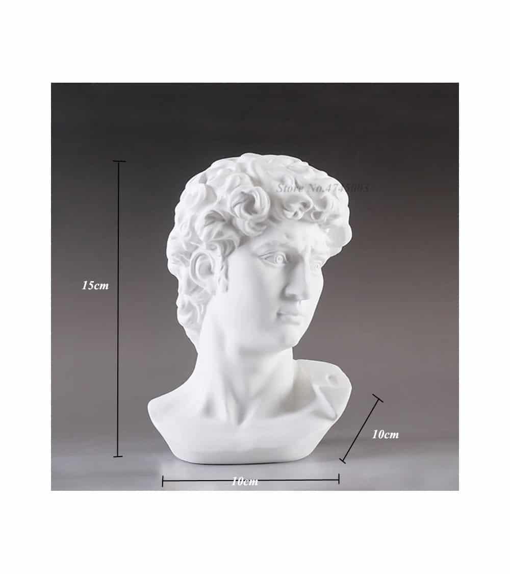 David statue de mythologie dimensions
