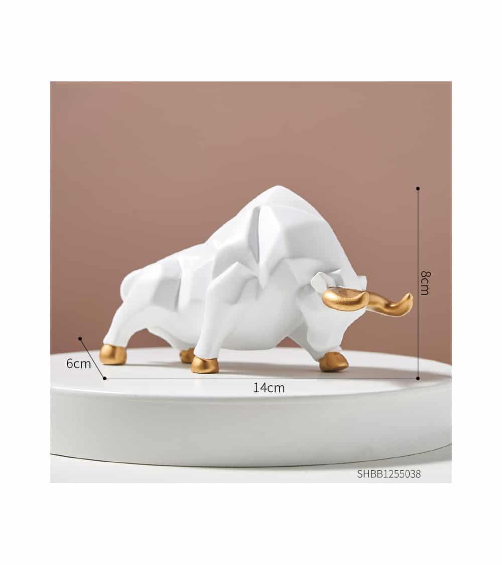 Sculpture légendaire Abstraite Taureau blanc dimensions