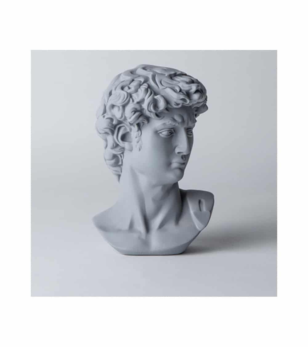 Statuette grec coloré grise