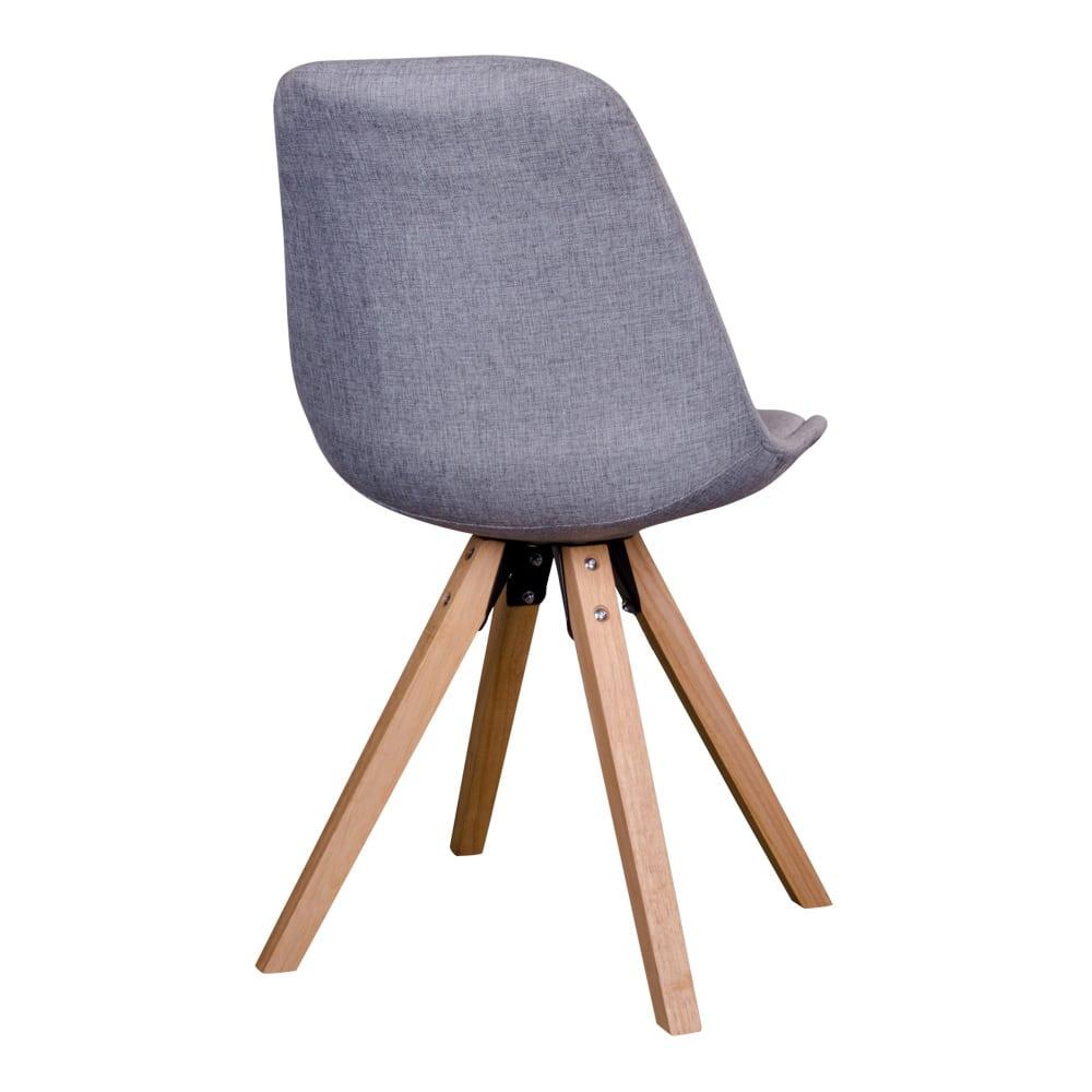 Chaise en tissus gris clair