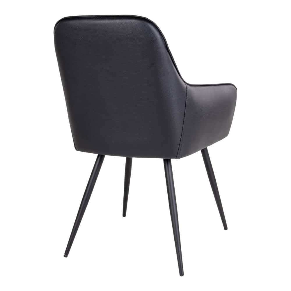 Duo de fauteuil noir capitonnées