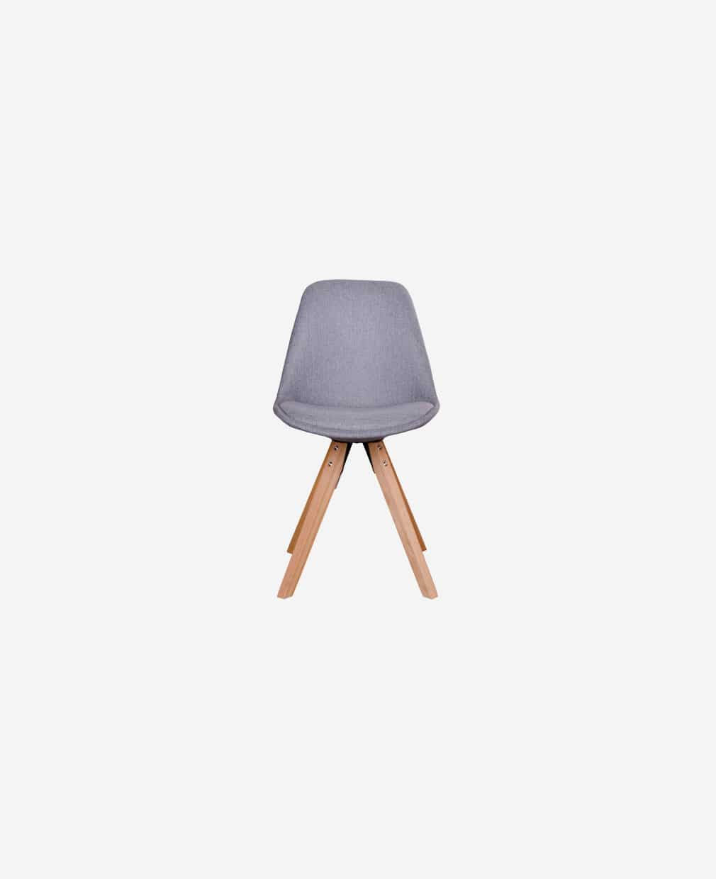 Chaise gris clair scandinave