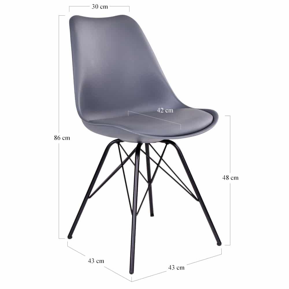 Chaise nordique grise