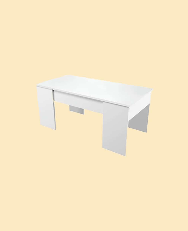 Table basse scandinave vue de côté