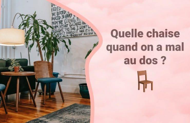 Bannière chaise pour le dos