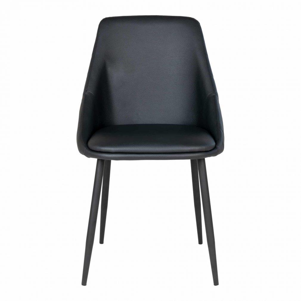 Chaise cuir noir matelassé