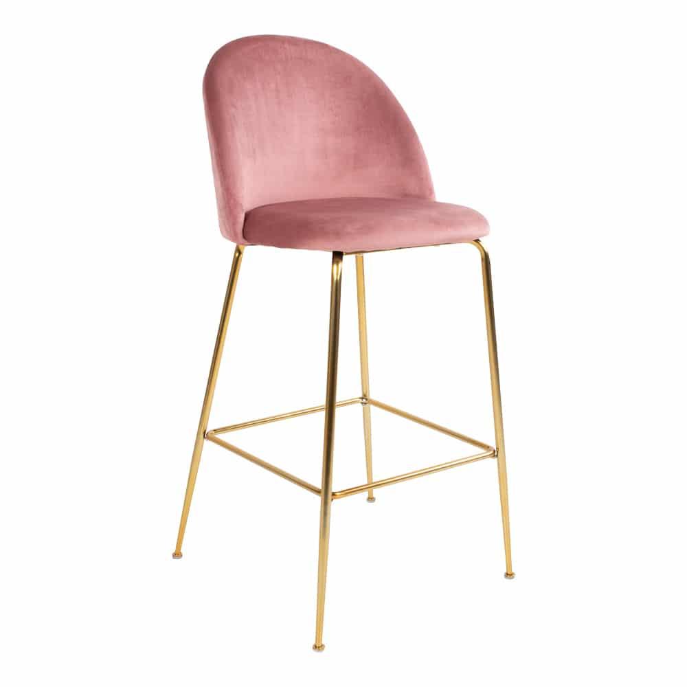 chaise Matelassé velour rose