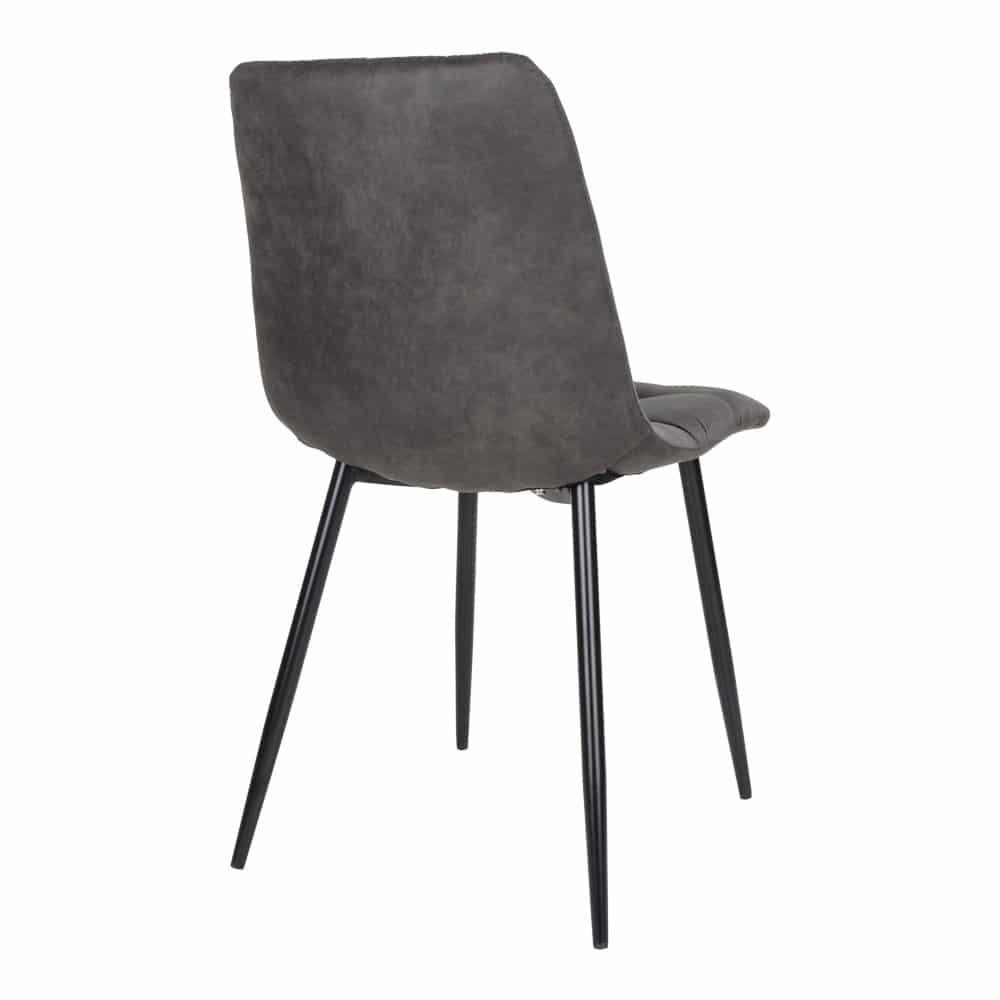 2 chaises Gris foncé en velours