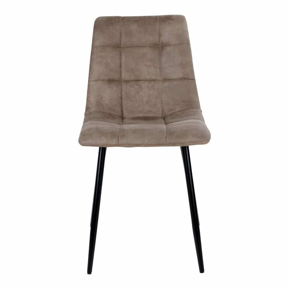 Chaise velour marron clair