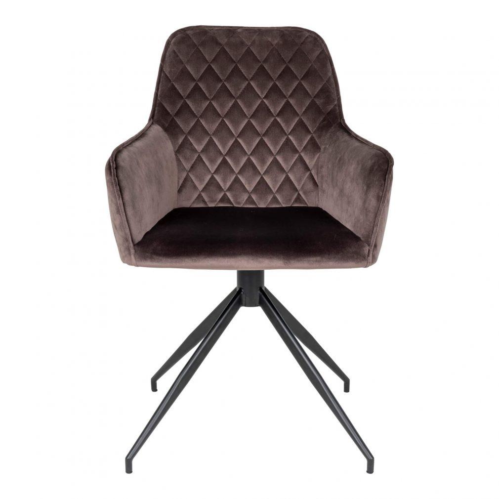 2 fauteuils taupe pivotant pieds noirs