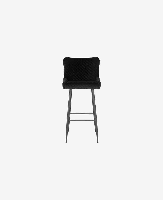 Chaise de bar en velours noir