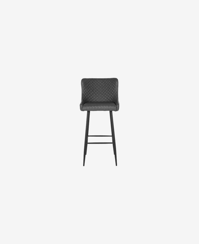Chaise haute de barre en cuir