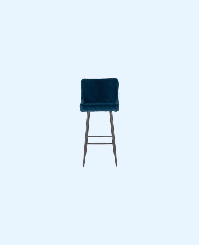 Chaise haute bleu