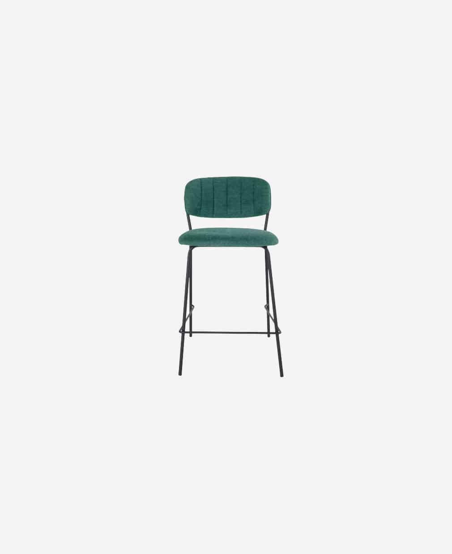 Chaise haute velour vert