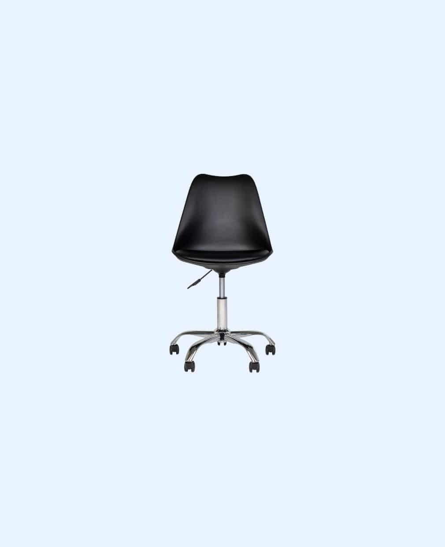 Chaise scandinave à roulette noir