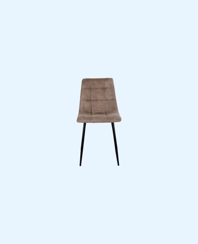 2 chaises velours marron clair