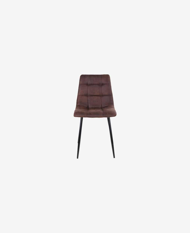 Chaise marron foncé micro fibre