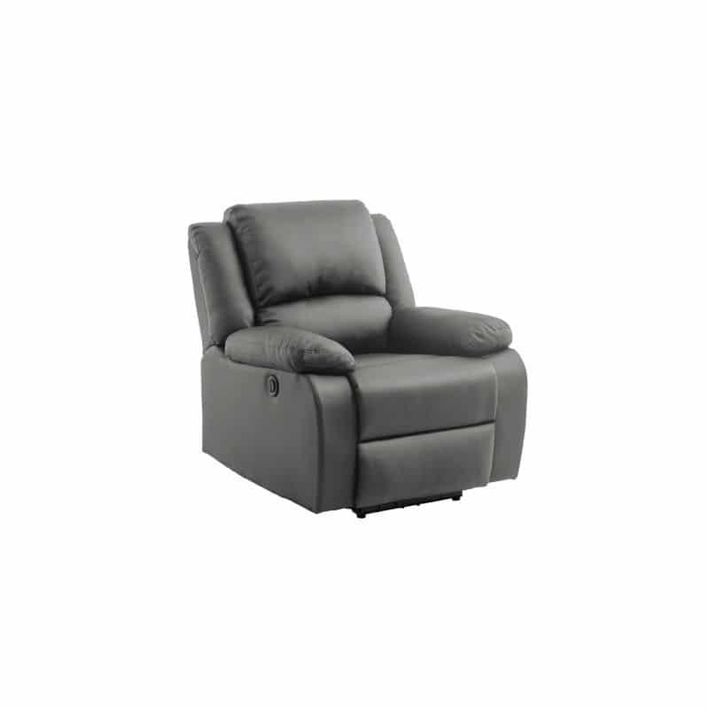 Fauteuil relax gris électrique