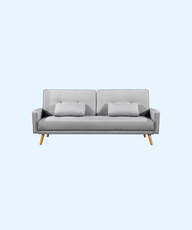 Canapé en tissu différent du canapé en velours