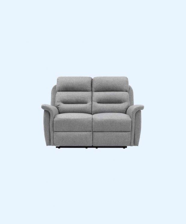 Canapé de relaxation manuel 2 places en tissu