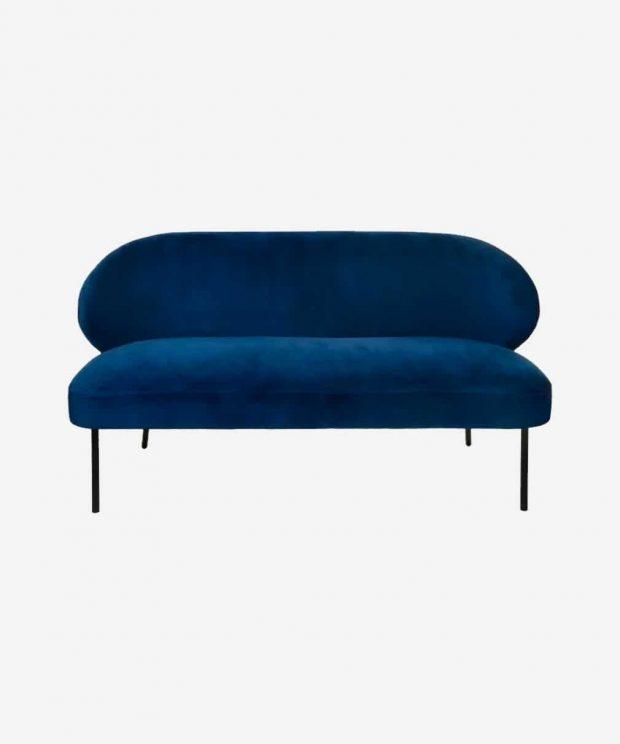 Canapé en velours bleu nuit
