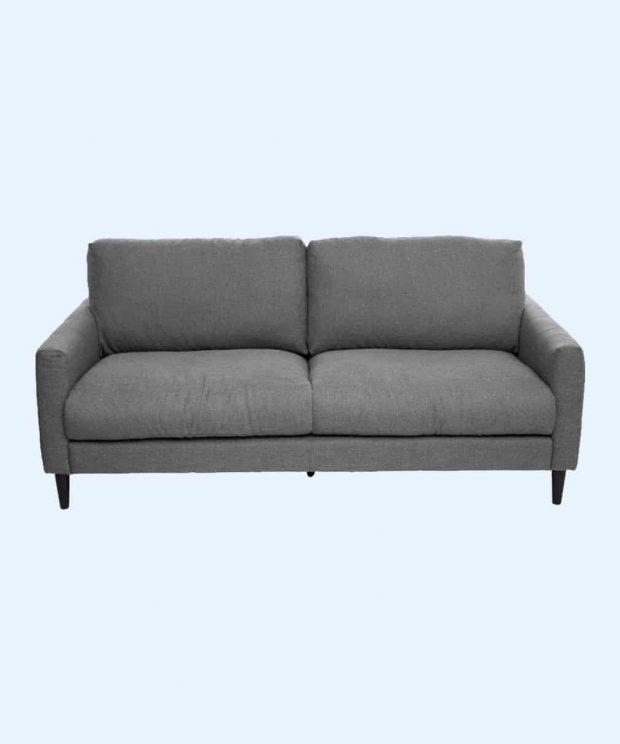 canapé 2 places grise