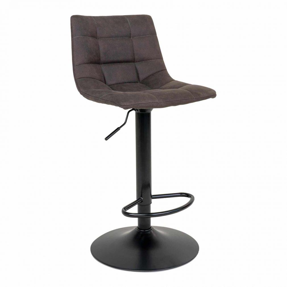 Chaise de bar tissus marron