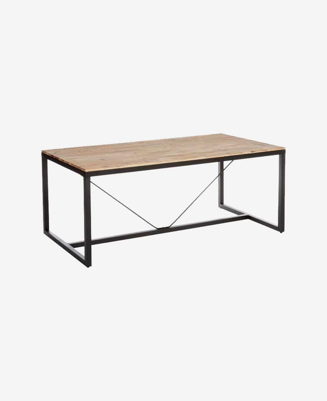 table basse en bois pieds noir