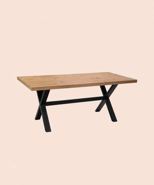 table scandinave en bois pieds noir