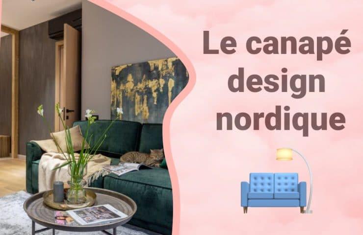 Bannière canapé design nordique