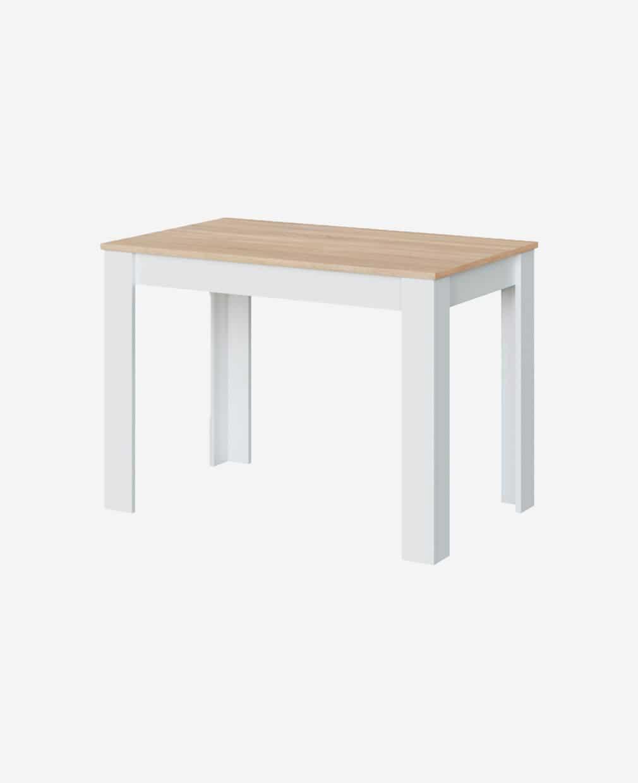 Table à manger en bois pieds blanc