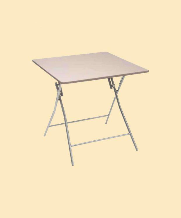Table pliante avec un plateau couleur taupe
